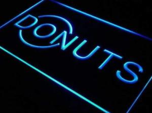 Donut LED Sign Light Advertisement Open