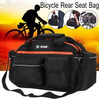 B-SOUL Bicycle Seat Rear Bag Bike Pannier Rack Pack Shoulder Cycling
