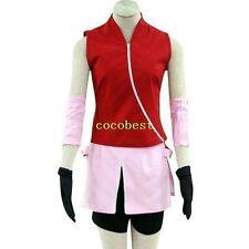 Naruto Shippuden Haruno Sakura Halloween Cosplay Costume Jacket Trousers Skirt