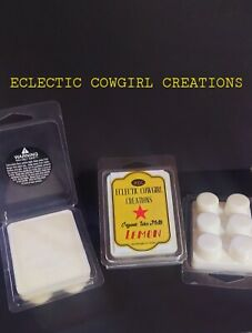Set of 2-Scented Soy Wax Melts-LEMON- Hand Poured By Eclectic Cowgirl Creations