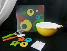 Tupperware KIDS KITCHEN Baking Set Spatula Cutter Mat Thatsa Bowl Jr & Seal Mini