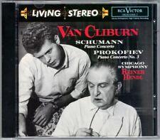 VAN CLIBURN: SCHUMANN PROKOFIEV Piano Concerto No.3 REINER RCA Living Stereo CD