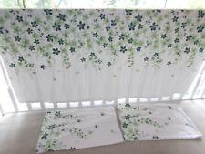 double duvet cover set 100% cotton flannel. green floral. Reversible design.