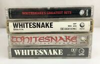 Lot of 4 Whitesnake Cassette Tapes ~ Greatest Hits, Slide It In, Self-Titled