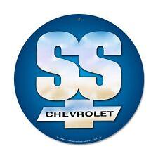 Original GM Chevy Chevrolet 1967 SS Logo Retro Vintage Sign Blechschild Schild