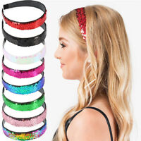 Bling Girls Sequin Mermaid Headband Hairband accessory Halloween Party Gifts TO