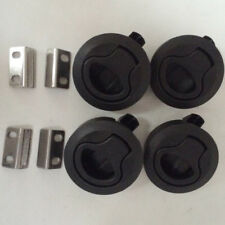 4PCS Black Plastic Boat Deck Hatch 1/2'' Door 2'' Flush Pull Slam Latch Economic