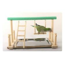 Birds Wooden Stand Parrot Training Frame Playground with Food Tray Pet Supplies
