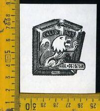 Ex Libris Originale Otto Mednis Riga x2 b 254 Paul Pfister