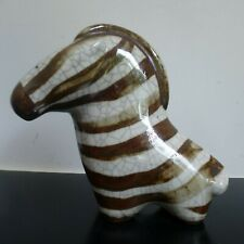 ARABIA FINLAND ABSTRACT ZEBRA TAISTO KAASINEN RARE BROWN COLOUR