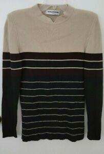 Vintage Sonia Rykiel Mock Turtleneck Wool Blend Sweater Size 44