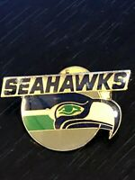 Vintage Collectible Seattle Seahawks Colorful Metal Pinback Lapel Pin Hat Pin