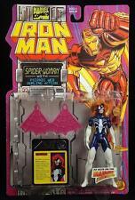 "1994 TOY BIZ MARVEL COMICS IRON MAN PSIONIC WEB SPIDER-WOMAN 5"" FIGURE MOC"