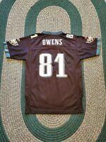 Reebok Philadelphia Eagles Terrell Owens #81 Jersey Youth Boys Large 14-16 EUC