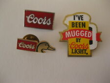 Coors And Coors Light Hat / Lapel Pins ( Lot of 3 )