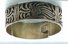 Beto Vintage Mayan warrior Mexican silver Bracelet