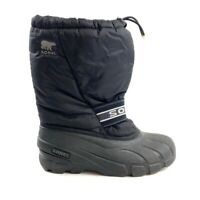 Sorel Womens 7 Black Insulated Snow Boots Winter Waterproof Slip On Lined 1831