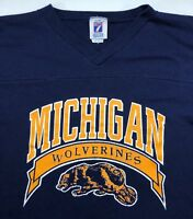 Vintage Youth XL 90s University Michigan Wolverines Collegiate Sports T-Shirt