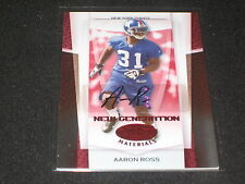 AARON ROSS ROOKIE GIANTS FOOTBALL LEGEND SIGNED AUTOGRAPHED CARD 46/100 RARE