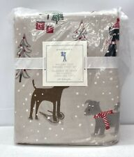 NEW Pottery Barn KIDS Holiday Dog Flannel FULL Sheet Set w/Pillowcases