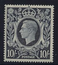 1939-49 GB SG478 KGVI 10/- DARK BLUE MINT MH/MM our ref E1