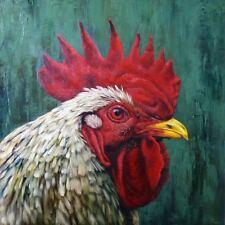 Big Red Lucia Heffernan Rooster Art Print 16x16