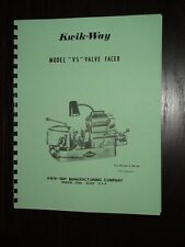 Kwik Way Model VS Valve Grinder Manual