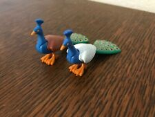 Lot playmobil animaux paons