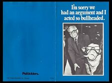 Barry Goldwater Political Flyer. But in your heart you know I'm right. 1971.