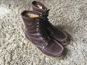 Vintage Sears Insulated Brown Leather Oil Resistant Work Boots Mens Size 9.5 D