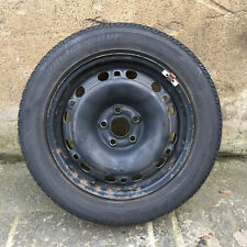 "SKODA FABIA 5J VW POLO 6R SEAT IBIZA 15"" STEEL WHEEL WITH TYRE 195 55 15 5X100"