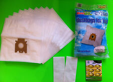 10 Vacuum Cleaner Bag Filter Bags Suitable for Miele : S 8310 (Vacuum Bag)