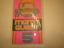 U2 BACKSTAGE PASS LAMINATE 1997  POP MART MANAGEMENT  GUEST 5