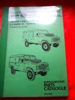 Original-Ersatzteil Katalog RTC9942  Military Land Rover 110   September 1986