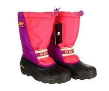 Sorel Womens Pink And Purple Waterproof Winter Waterproof Boots Black 7