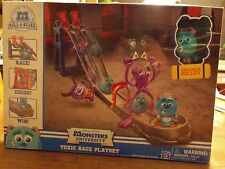 DISNEY PIXAR MONSTER  UNIVERSARY ROLL-A-SCARE TOXIC RACE PLAYSET + SULLEY FIGURE