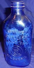 RP1569 Vtg Phillips Milk Of Magnesia Medicine Bottle Cobalt Blue Glass