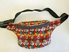 Disney Mickey Unlimited Mickey Mouse Emoji Red Adjustable Fanny Pack