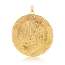 Vintage Mens Round coin gold filled Pendant For Long Necklace Jewelry