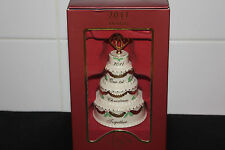 Lenox 2011 Our First Christmas Together Cake Ornament, 4.25""