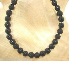 "7MM GENUINE INDO-PACIFIC CALIBRATED ROUND BLACK CORAL BEAD BRACELET 7.5"" #1"