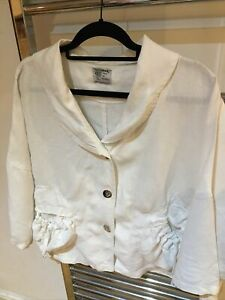 White Linen Blouse - Completo Lino By Arthurio Size L. Linen. Offer If Want Fast