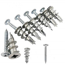 Ansoon Zinc Self-Drilling Drywall Anchors with Screws Kit, 50 Pieces All