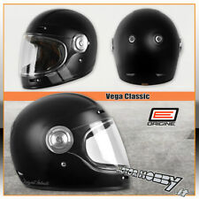 CASCO MOTO INTEGRALE IN FIBRA VINTAGE ORIGINE VEGA STRIPE BLACK OPACO TAGLIA XL