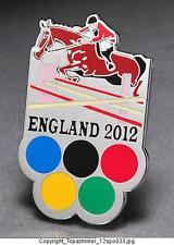 OLYMPIC PINS 2012 ENGLAND U.K. SPORT OF EQUESTRIAN HORSES COMMEMORATIVE - SILVER