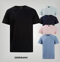 Mens Donnay Crew Neck Short Sleeves Soft Classic T Shirt Sizes from S to XXXL