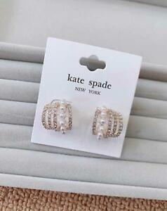 Kate Spade New York Jewellery Pearl Swarovski Cyrstal Earrings