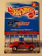 Hot Wheels Penske Auto Center '70 Mustang Mach 1 Real Riders Pristine Condition!