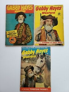 FAWCETT COMICS GOLDEN AGE GABBY HAYES (1949) No.3, 19 & 20