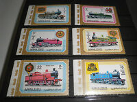 "FRANCOBOLLI STAMPS AJMAN 1972 ""TRENI / TRAINS"" MNH** SET STAMPS (CAT.7)"